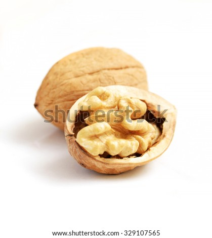 Common Walnut  close Up - stock photo