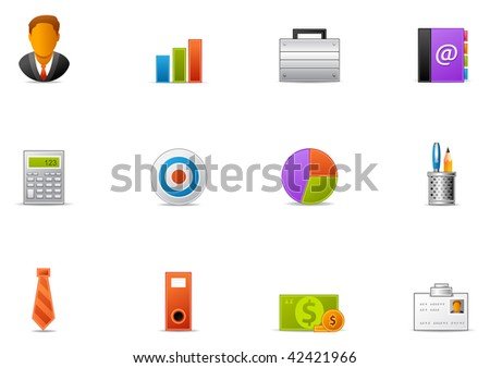 Commonly used Business  icons. Pixio set #13 - stock photo