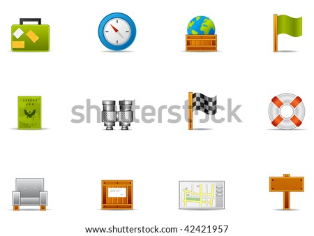 Commonly used Leisure time & Traveling icons. Pixio set #2 - stock photo