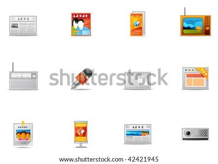 Commonly used  Mass Media icon. Pixio set #18 - stock photo