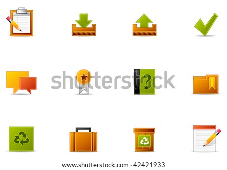 Commonly used  Website and Internet blogging icons. Pixio set #3 - stock photo