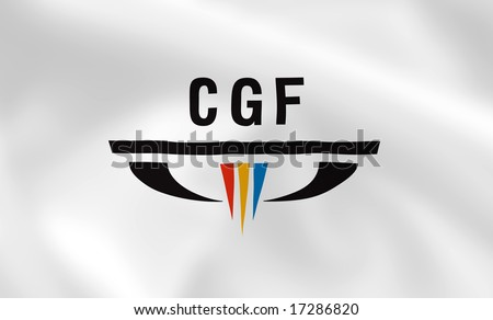 Commonwealth games waving flag (can be used for background or wallpaper) - stock photo