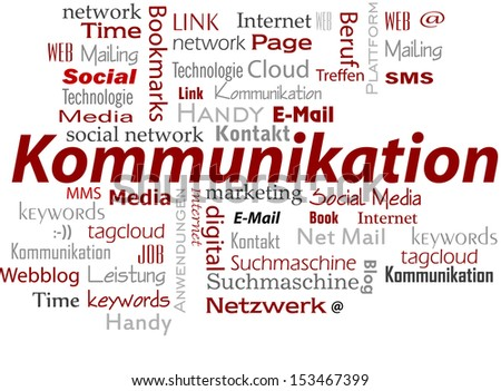 Communication cloud words