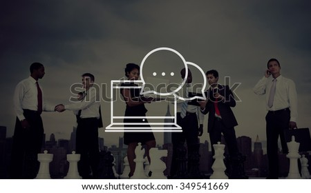 Communication Connection Community Chatting Concept - stock photo