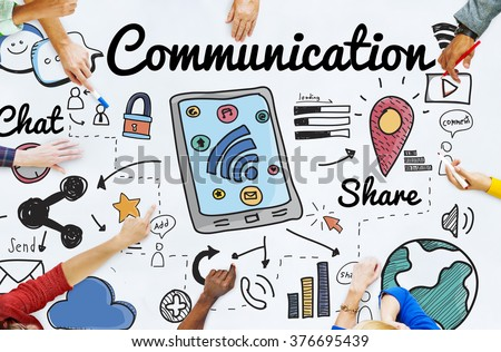Communication Connection Social Network Concept - stock photo
