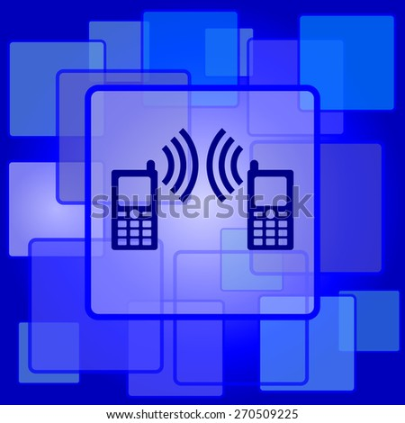 Communication icon. Internet button on abstract background.  - stock photo