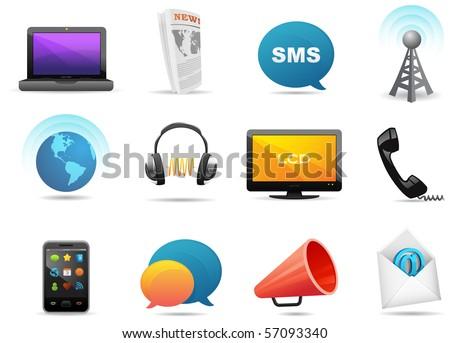 communication icons #2. part of milo icon set - stock photo