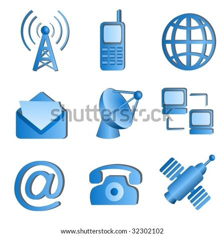 Communication icons. See vector version in my portfolio. - stock photo