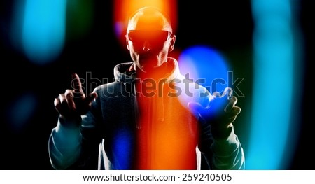 Communication in future concept - stock photo