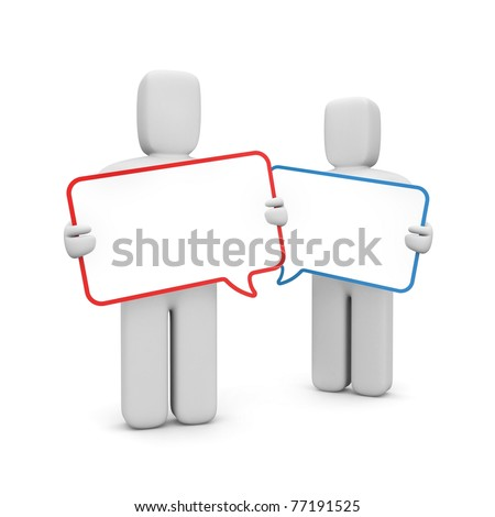Communication metaphor - stock photo