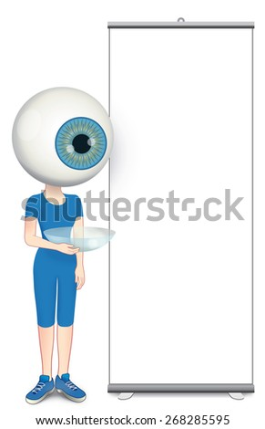 Communication Panel for ophthalmologist - stock photo