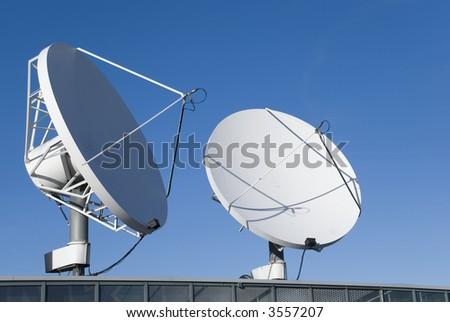 communication satellites - stock photo