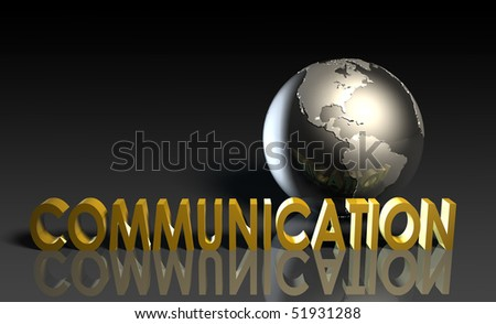 Communication Services on a Global Scale in 3d - stock photo