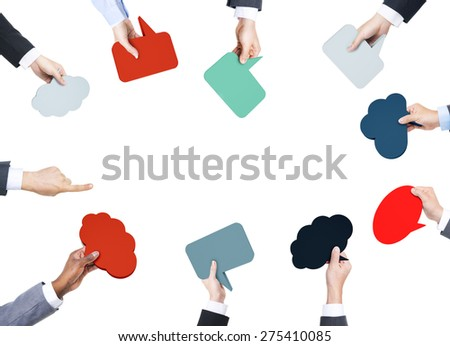 Communication Speech Bubbles Conversation Sign Concept - stock photo
