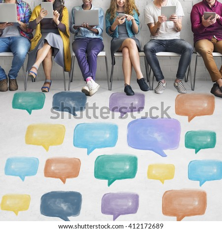 Communication Talking Icon Speech Bubble Concept - stock photo