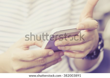 Communication technology, People Using a Smart Phone background