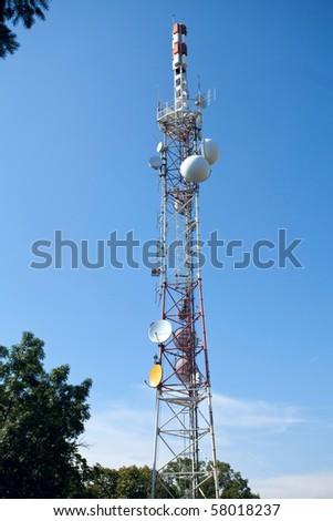 communication tower - stock photo