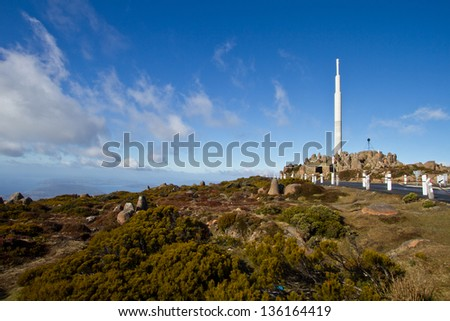 Communication tower at the peak of Mt Wellington