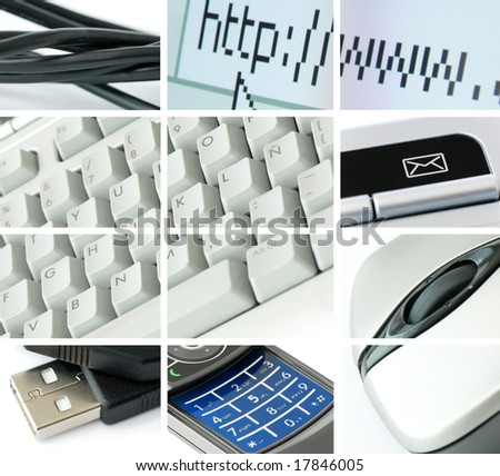 communications and technology theme composition - stock photo