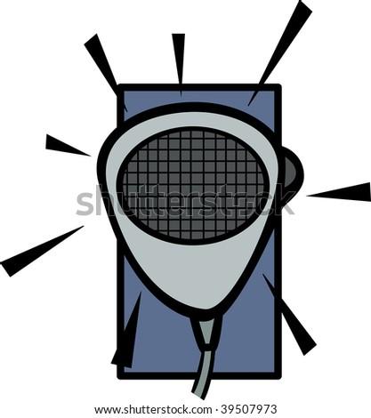 communications radio microphone - stock photo