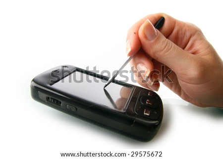 communicator - stock photo