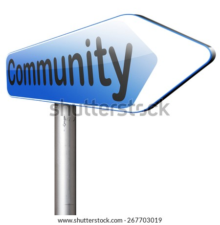 Community  a local human group of people together united in a social cooperation connection and help online internet network   - stock photo