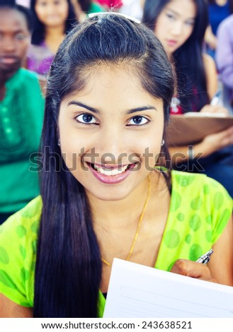 Community Diversity and Indian Ethnicity Learning Team Concept - stock photo