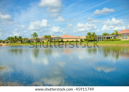 Community lake - stock photo