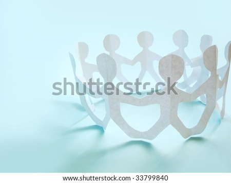 community of people holding on hands, concept - stock photo