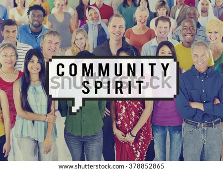 Community Spirit Connection Togetherness Society Concept - stock photo