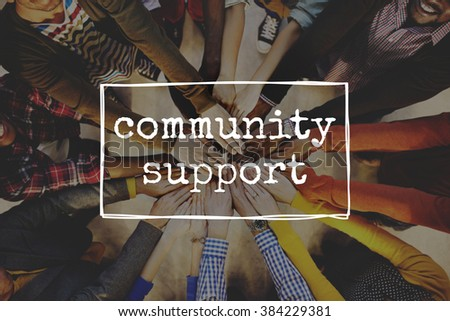 Community Support Diversity Society People Concept - stock photo