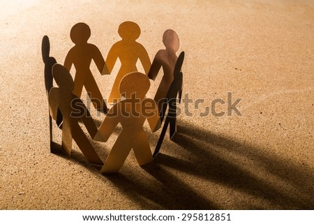 Community, Support, Multi-Ethnic Group. - stock photo