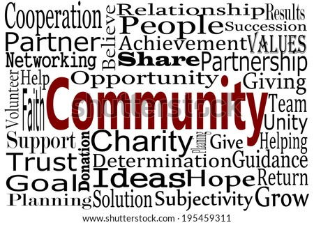Community Word Cloud - stock photo