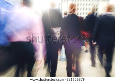 Commuter Business People Commuter Crowd Walking Concept - stock photo