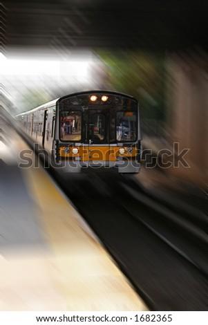 Commuter Train - 1 - stock photo