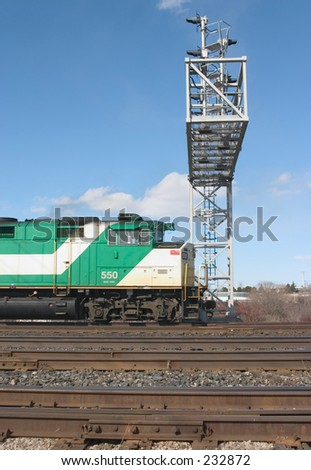Commuter train. - stock photo