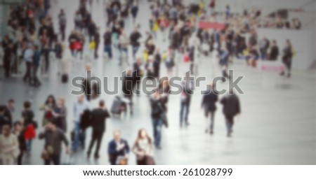 Commuters. Intentionally blurred editing post production.