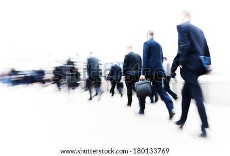 Commuters Rushing in London - stock photo