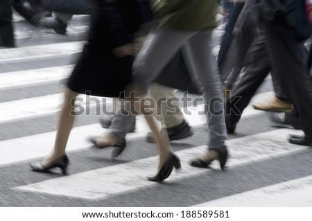 Commuting business people  - stock photo