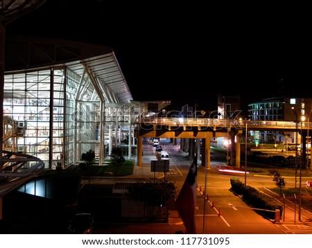 Comodoro Arturo Merino Ben�¢??tez International Airport, also known as Santiago International Airport and Pudahuel Airport - stock photo