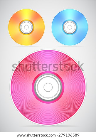 Compact disc collection. Raster version  - stock photo