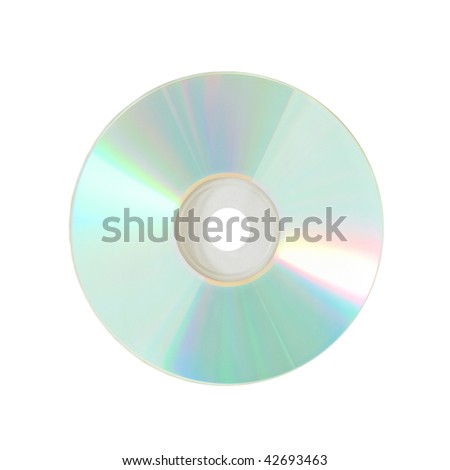 Compact disc isolated on the white background - stock photo