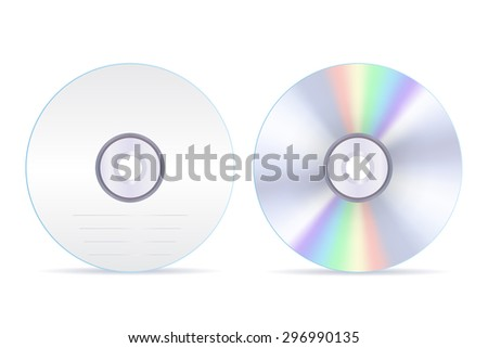 Compact disc Isolated on white background. Raster version