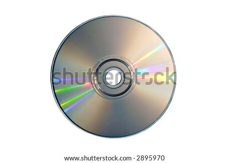 Compact disc on a white background close up - stock photo