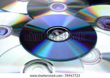 Compact discs - stock photo