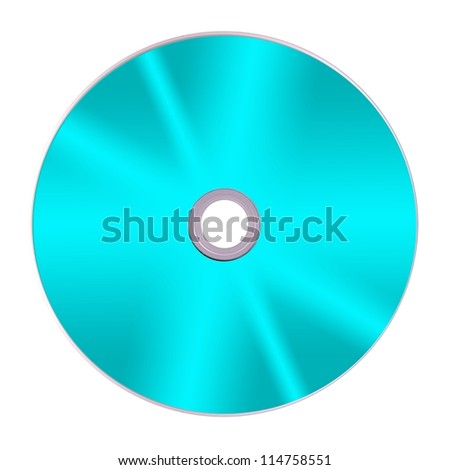 Compact discs isolated against a white background - stock photo