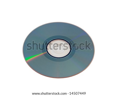Compact disk close-up - stock photo