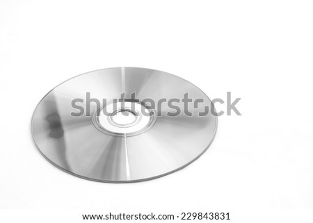 Compact disk isolated on white background. - stock photo