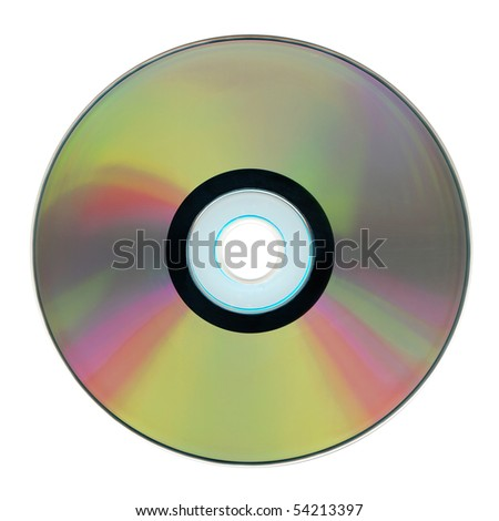 Compact disk isolated on white background