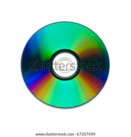 compact disk on a white background